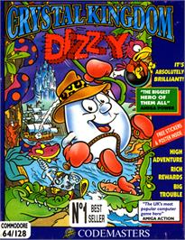 Box cover for Crystal Kingdom Dizzy on the Commodore 64.