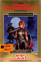 Box cover for Curse of the Azure Bonds on the Commodore 64.