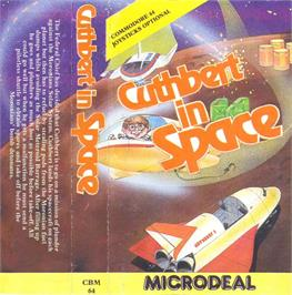 Box cover for Cuthbert in Space on the Commodore 64.