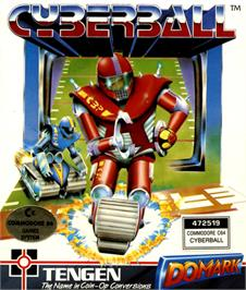 Box cover for Cyberball on the Commodore 64.