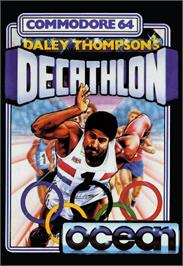 Box cover for Daley Thompson's Decathlon on the Commodore 64.