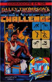 Box cover for Daley Thompson's Olympic Challenge on the Commodore 64.
