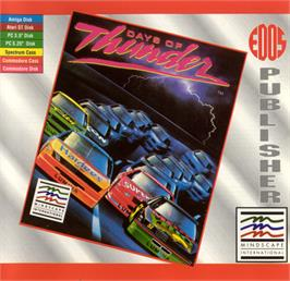 Box cover for Days of Thunder on the Commodore 64.