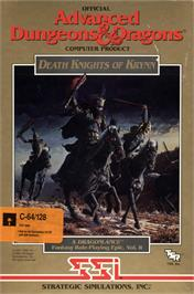 Box cover for Death Knights of Krynn on the Commodore 64.