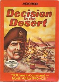 Box cover for Decision in the Desert on the Commodore 64.