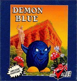 Box cover for Demon Blue on the Commodore 64.
