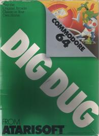 Box cover for Dig Dug on the Commodore 64.