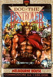 Box cover for Doc the Destroyer on the Commodore 64.