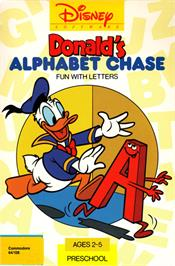Box cover for Donald's Alphabet Chase on the Commodore 64.