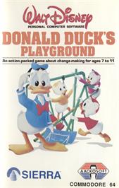 Box cover for Donald Duck's Playground on the Commodore 64.