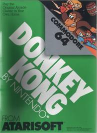 Box cover for Donkey Kong on the Commodore 64.