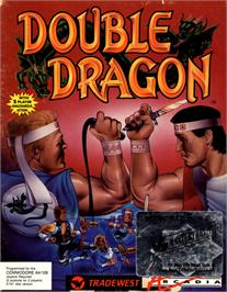 Box cover for Double Dragon on the Commodore 64.