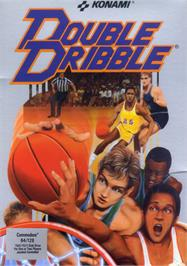 Box cover for Double Dribble on the Commodore 64.