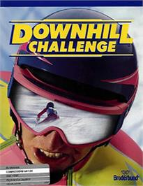 Box cover for Downhill Challenge on the Commodore 64.