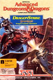 Box cover for DragonStrike on the Commodore 64.