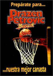 Box cover for Drazen Petrovic Basket on the Commodore 64.