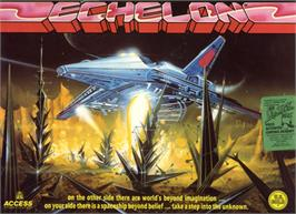 Box cover for Echelon on the Commodore 64.