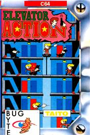 Box cover for Elevator Action on the Commodore 64.