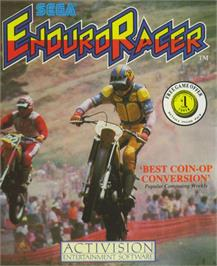 Box cover for Enduro Racer on the Commodore 64.