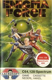 Box cover for Enigma Force on the Commodore 64.