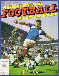 Box cover for European Football Champ on the Commodore 64.