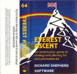 Box cover for Everest Ascent on the Commodore 64.
