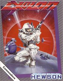 Box cover for Exolon on the Commodore 64.
