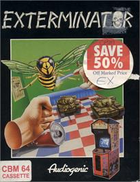 Box cover for Exterminator on the Commodore 64.