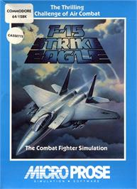 Box cover for F-15 Strike Eagle on the Commodore 64.