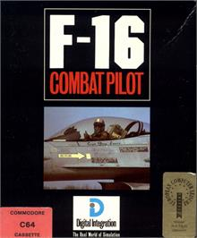 Box cover for F-16 Combat Pilot on the Commodore 64.