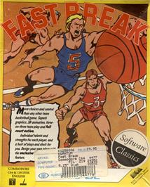 Box cover for Fast Break on the Commodore 64.