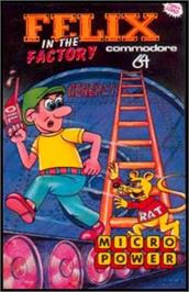 Box cover for Felix in the Factory on the Commodore 64.