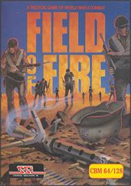 Box cover for Field of Fire on the Commodore 64.