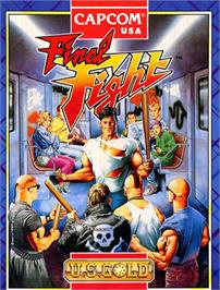 Box cover for Final Fight on the Commodore 64.