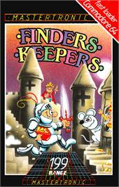 Box cover for Finders Keepers on the Commodore 64.