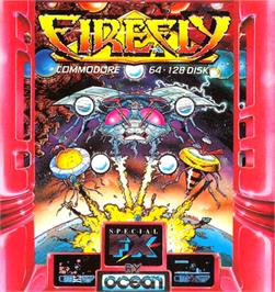 Box cover for Firefly on the Commodore 64.