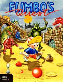 Box cover for Flimbo's Quest on the Commodore 64.