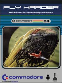 Box cover for Fly Harder on the Commodore 64.