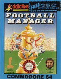 Box cover for Football Manager on the Commodore 64.
