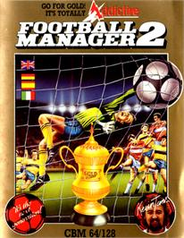 Box cover for Football Manager 2 on the Commodore 64.