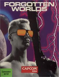 Box cover for Forgotten Worlds on the Commodore 64.