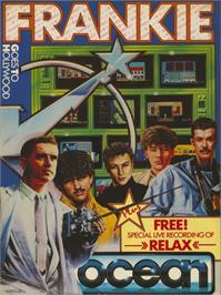 Box cover for Frankie Goes to Hollywood on the Commodore 64.