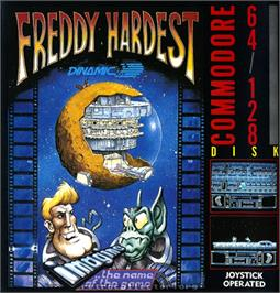 Box cover for Freddy Hardest on the Commodore 64.