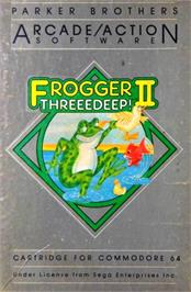 Box cover for Frogger II: Three Deep on the Commodore 64.