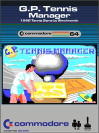 Box cover for G.P. Tennis Manager on the Commodore 64.