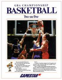 Box cover for GBA Championship Basketball: Two-on-Two on the Commodore 64.