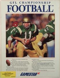 Box cover for GFL Championship Football on the Commodore 64.