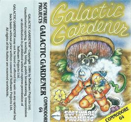 Box cover for Galactic Gardener on the Commodore 64.
