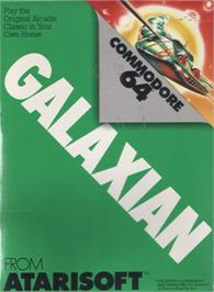 Box cover for Galaxian on the Commodore 64.