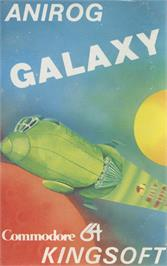 Box cover for Galaxy on the Commodore 64.